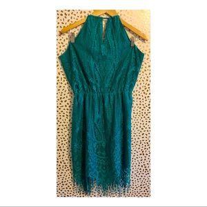 Gianni Bini Lace & Fringe Dress.